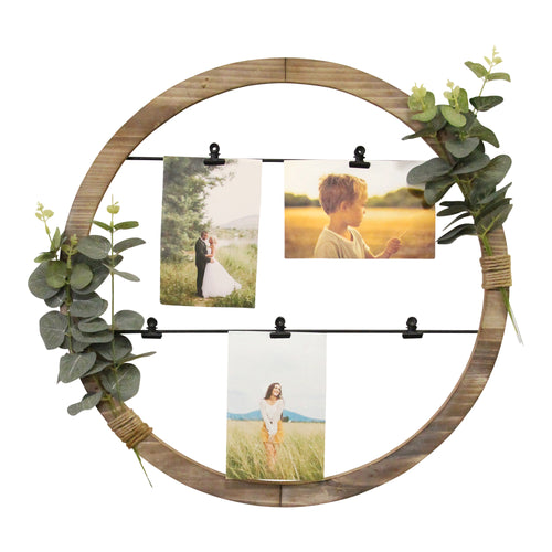 Stratton Home Decor Eucalyptus Photo Holder Wall Decor