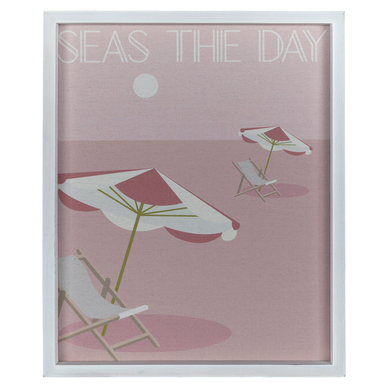 "Stratton Home Decor ""Seas the Day"" Framed Wall Art"