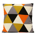 "Stratton Home Decor Geometric Triangle 18"" Square Pillow"