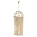 Stratton Home Decor Metal Rainbow Macrame Wall Decor