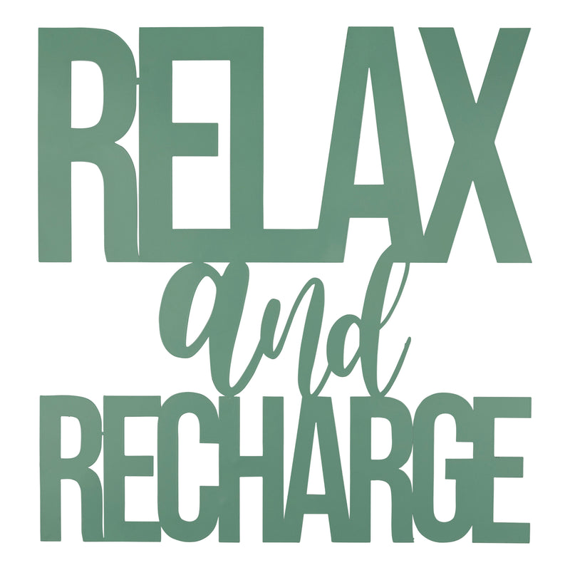 Stratton Home Decor Relax and Recharge Metal Wall Sign