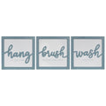 Stratton Home Decor Set of 3 Blue Hang, Brush, Wash Framed Wall Art