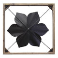 Stratton Home Decor Bold Blue Framed Metal Flower