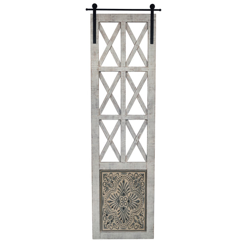 Stratton Home Decor Distressed Door Panel Wall Decor