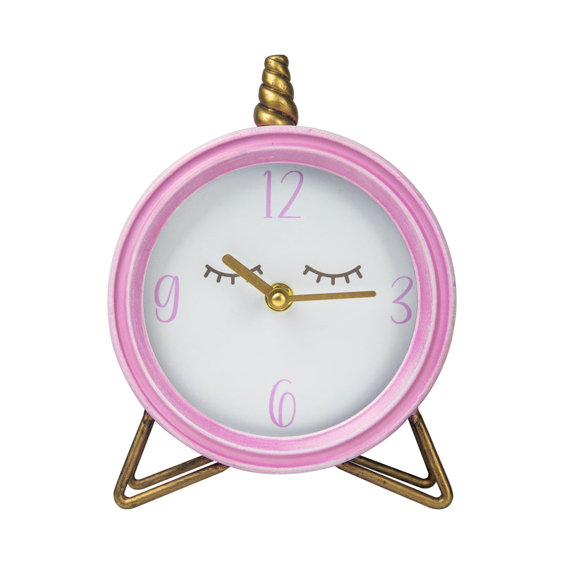 Stratton Home Decor Unicorn Table Top Clock