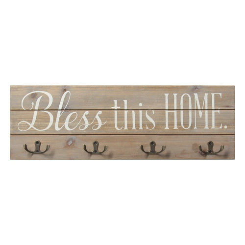 Stratton Home Decor Bless this Home Wood Hooks