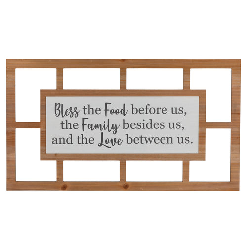 Stratton Home Decor Bless Us Printed Wall Art