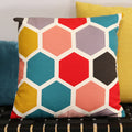 "Stratton Home Decor Geometric Hexagon 18"" Square Pillow"