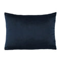 Stratton Home Decor Navy Blue Textured Velvet Lumbar Pillow