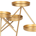 Stratton Home Decor Modern Gold Metal Candle Holder Centerpiece