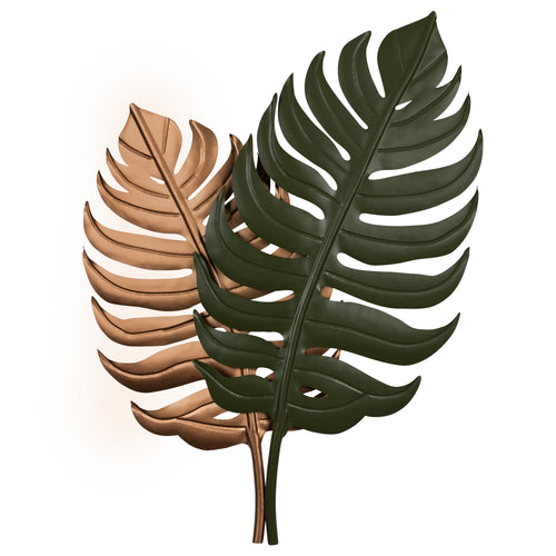 Stratton Home Decor Metal Tropical Leaves Wall Decor