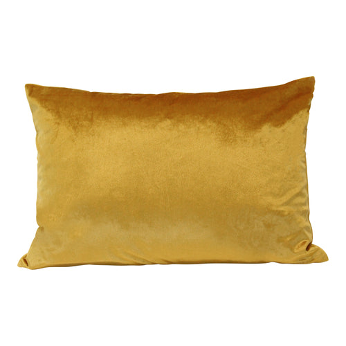 Stratton Home Decor Golden Velvet Lumbar Pillow