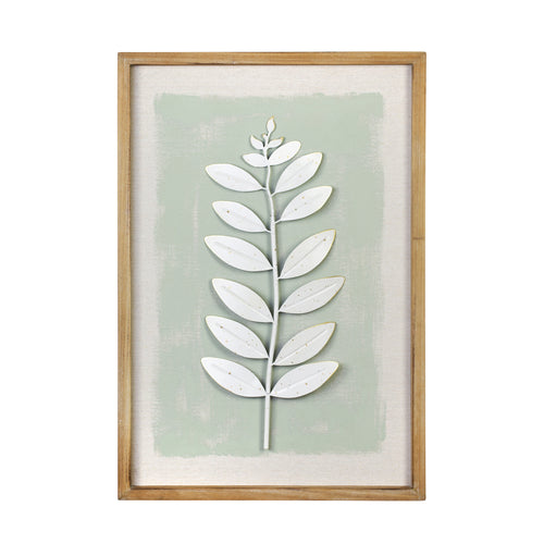 Stratton Home Decor Framed Green Leaf Wall Art