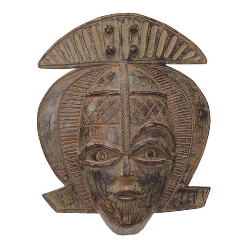 Stratton Home Decor Tribal Ethnic Face Mask Wall Decor