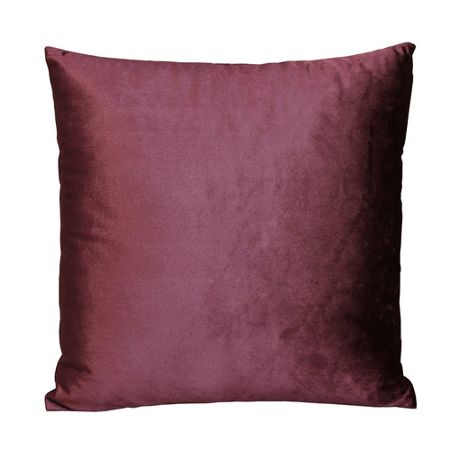 "Stratton Home Decor Majestic Purple Velvet 18"" Square Pillow"
