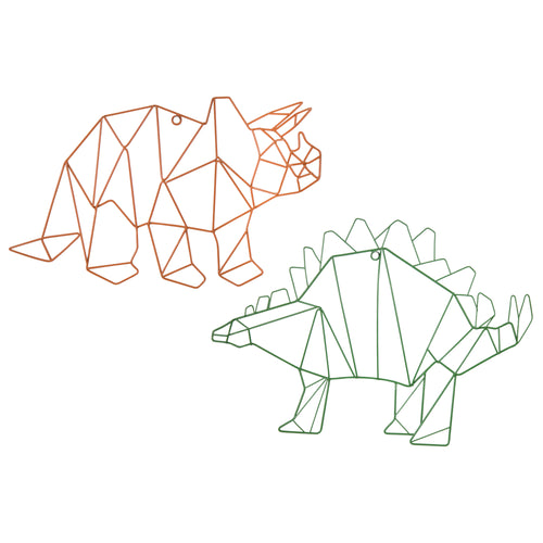 Stratton Home Decor Set of 2 Metal Dinosaurs Wall Decor