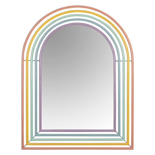 Stratton Home Decor Riley Rainbow Wall Mirror