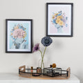 Stratton Home Decor Framed Blue Abstract Floral Lady Wall Art