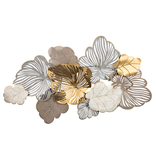 Stratton Home Decor Tricolor Tropical Leaves Metal Wall Decor