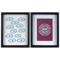 Stratton Home Decor Set of 2 Eyes on You Framed Wall Art