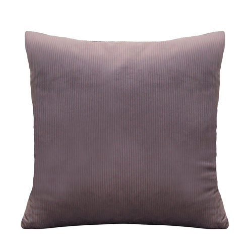 "Stratton Home Decor Mauve Textured Velvet 18"" Square Pillow"