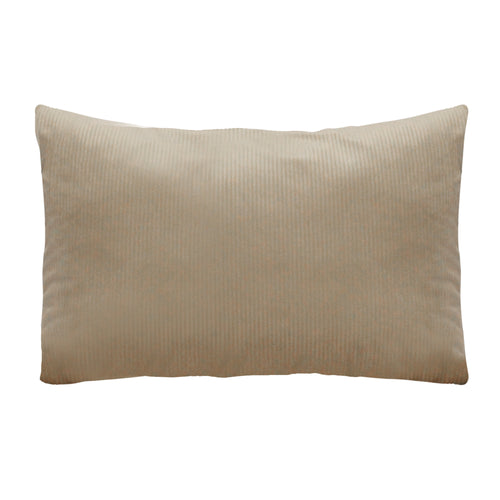 Stratton Home Decor Tan Textured Velvet Lumbar Pillow