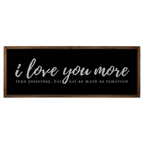Stratton Home Decor I Love You More Wall Art