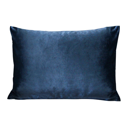 Stratton Home Decor Royal Blue Velvet Lumbar Pillow