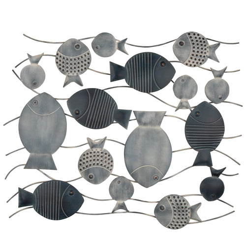 Stratton Home Decor Fish in the Sea Metal Wall Decor