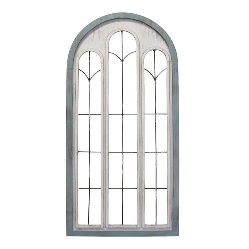 Stratton Home Decor Blue and White Window Panel