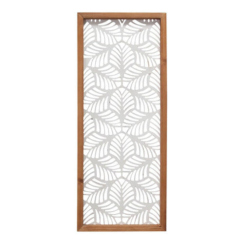 Stratton Home Decor Carved Leaf Wood Wall Panel