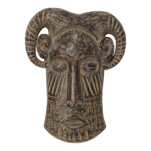 Stratton Home Decor Long Tribal Ethnic Face Mask Wall decor