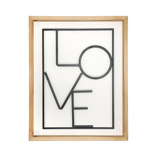 Stratton Home Decor Modern LOVE Wall Art