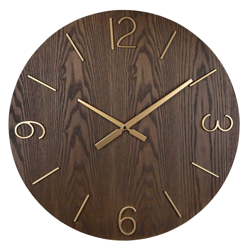 Stratton Home Decor Bennett Wood Wall Clock
