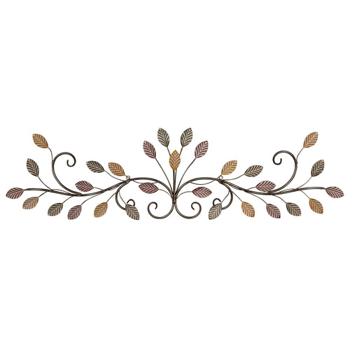 Stratton Home Decor Multi Color Flowing Leaves Over the Door Wall Decor