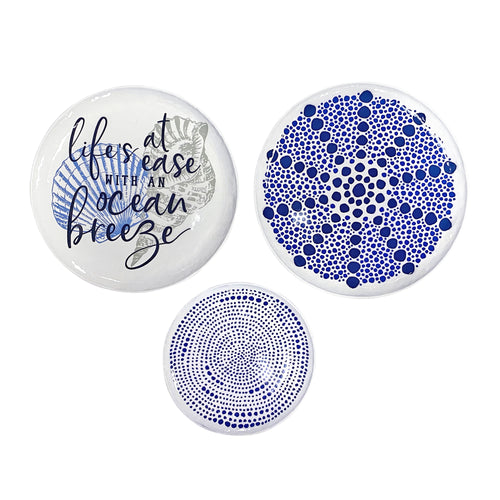 Stratton Home Decor Set of 3 Life's a Breeze Decorative Plates Wall Decor