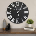 Stratton Home Decor 24 inch Vincent Black and White Wood Wall Clock