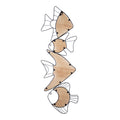 Stratton Home Decor Metal and Wood Vertical Swimming Fish Wall Decor