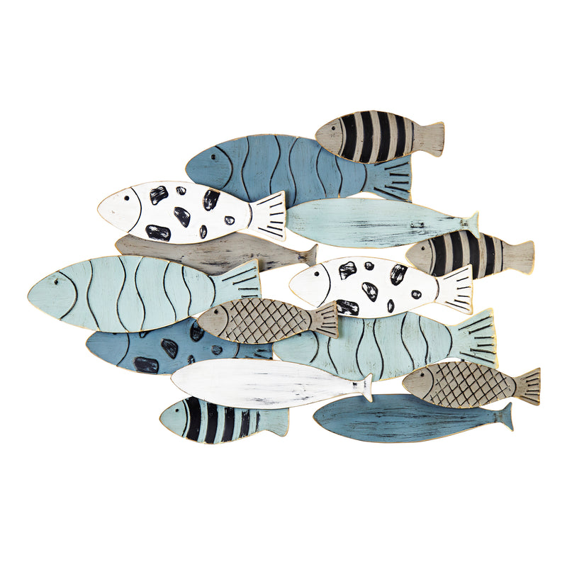 Stratton Home Decor Modern School of Fish Wall Décor