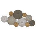 Stratton Home Decor Sienna Metal Textured Plates Centerpiece Wall Decor