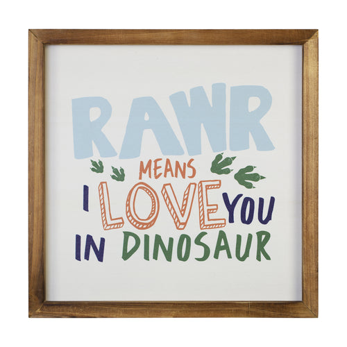 Stratton Home Decor Dinosaur Rawr Quote Wall Art
