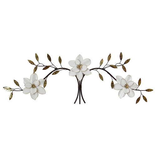 Elegant Stratton Home Décor Over The Door White Blooms Wall Décor