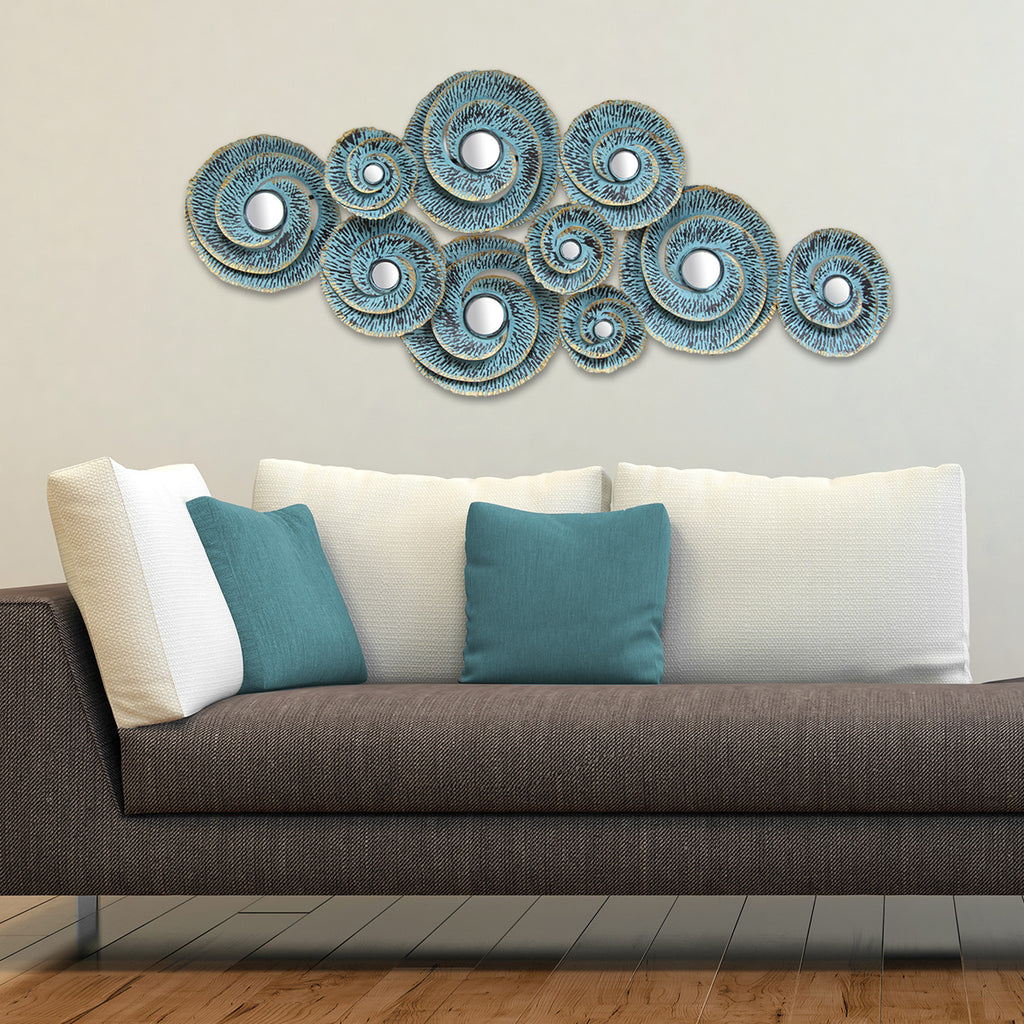 Decorative waves metal wall d cor stratton home decor - Wall decoration ideas for bedrooms ...