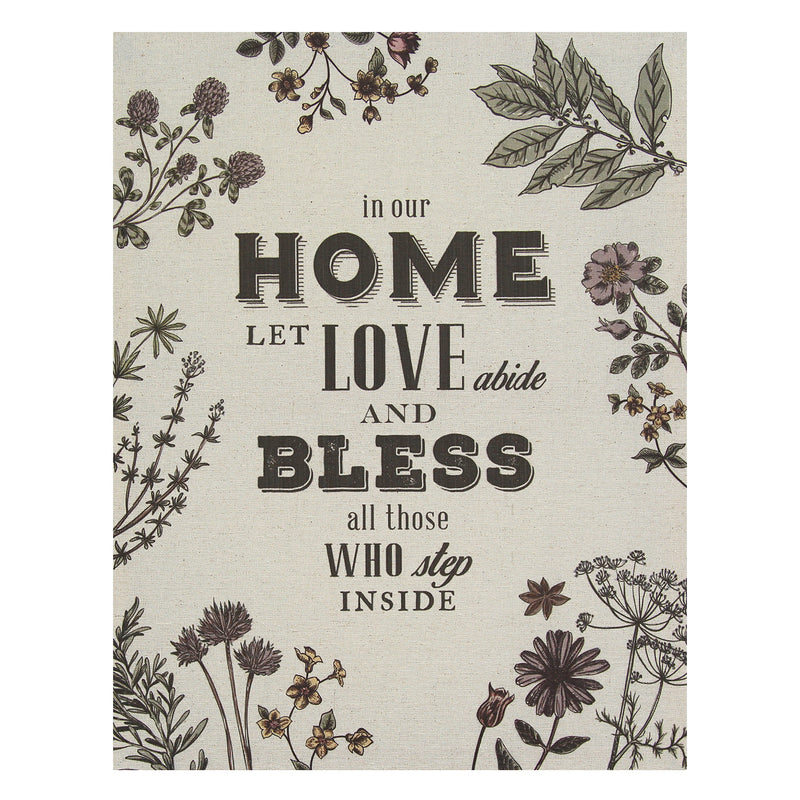 """In our Home"" Linen Wall Art"
