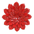 Red Layered Flower Wall Décor