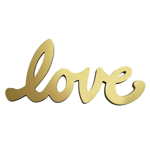 Stratton Home Décor Gold Script Love Wall Décor