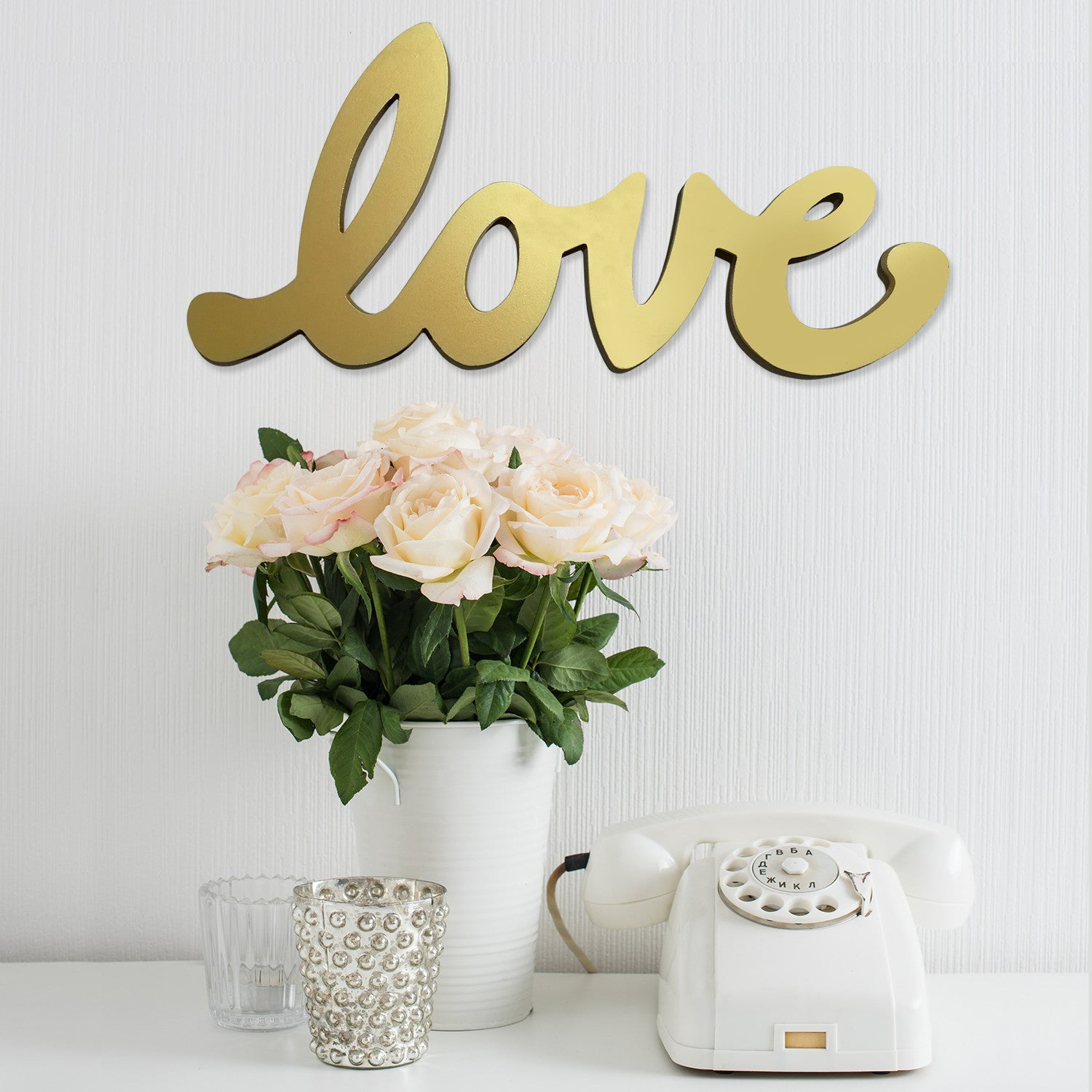 Beau ... Stratton Home Décor Gold Script Love Wall Décor
