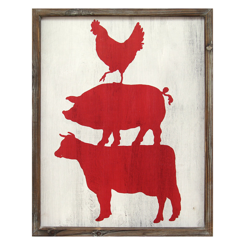 Cow Pig & Rooster Wall Art
