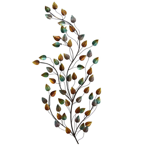 Stratton Home Décor Grand Blowing Leaves Wall Décor