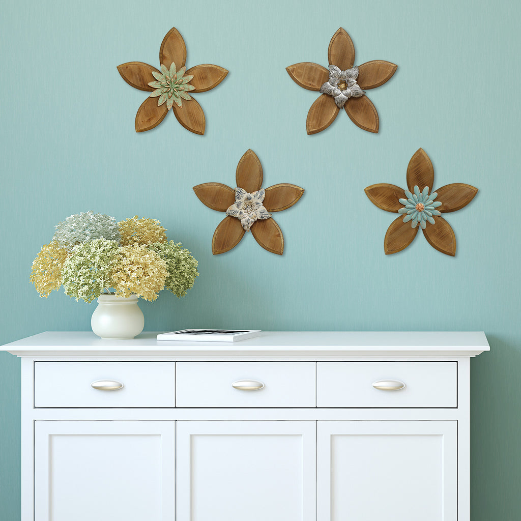 Stratton Home D Cor Rustic Flower Wall D Cor Stratton